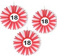 Honigwaben-Dekoration 18. Geburtstag