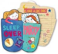 6 Einladungen Pyjama-Party