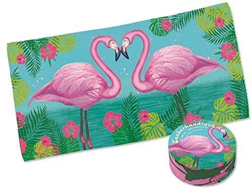 Zauberhandtuch Flamingo