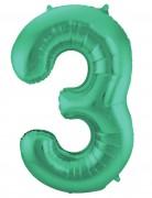 Folienballon Zahl 3 - in Grün
