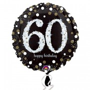Folienballon Happy Birthday - 60. Geburtstag