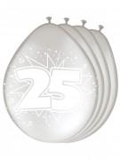 8 Luftballons Silberhochzeit
