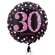 Folienballon 30. Geburtstag - Sparkling Pink