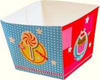 4 Süßigkeiten-Becher Cupcakes