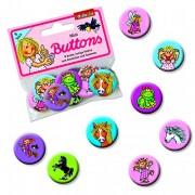 8 Mini Buttons Mädchen