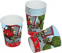 8 Becher Feuerwehr