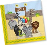 20 Servietten Zoo & Zootiere