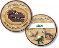 6 Forscher-Ausweise Dinos und T-Rex