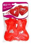 10 Luftballons in Herz-Form