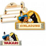 6 Einladungskarten Indianer Yakari