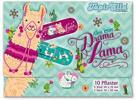 10 Kinder-Pflaster Lama
