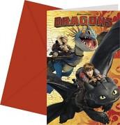 6 Einladungskarten + Umschläge Dragons