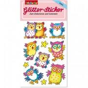 Eulen Glitter Sticker