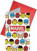 6 Einladungskarten Avengers - Team Power!