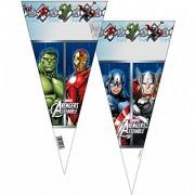 10 dreieckige Geschenktüten Avengers Assemble