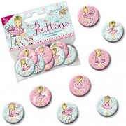 8 Mini Buttons Ballett