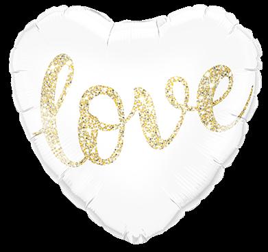 Folienballon Herz - Love (46cm)