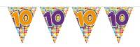 Wimpelkette für den 10. Geburtstag