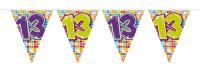 Wimpelkette für den 13. Geburtstag