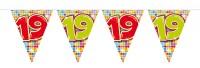 Wimpelkette für den 19. Geburtstag