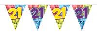 Wimpelkette für den 21. Geburtstag