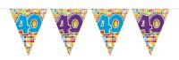 Wimpelkette für den 40. Geburtstag