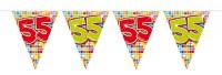 Wimpelkette für den 55. Geburtstag