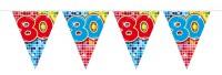 Wimpelkette für den 80. Geburtstag