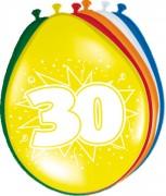 8 Luftballons Zahl 30
