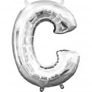 Folienballon Buchstabe C - in Silber
