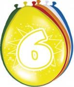 8 Luftballons Zahl 6