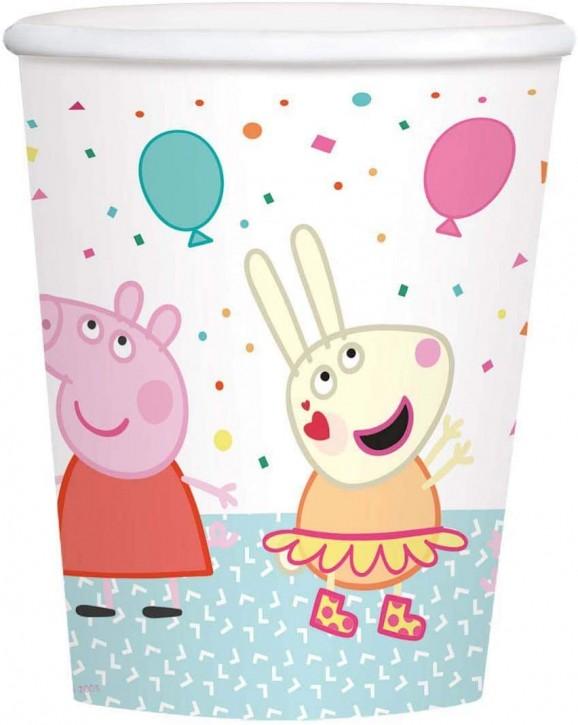 8 Party-Becher Peppa Pig