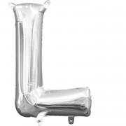 Folienballon Buchstabe L - in Silber