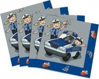 20 Servietten Polizei III
