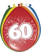 8 Luftballons Zahl 60