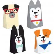 8 Partytüten Hunde - aus Papier