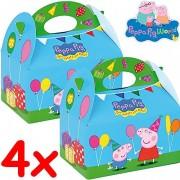 4 Geschenkboxen Peppa Pig