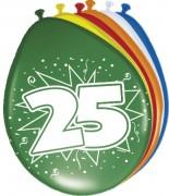 8 Luftballons Zahl 25