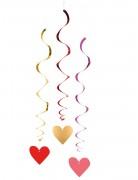 3 Deko-Spiralen Love You