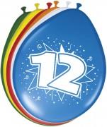 8 Luftballons Zahl 12