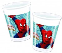8 Becher Spiderman - Web Warriors