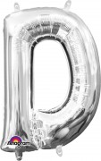Folienballon XXL-Buchstabe D - in Silber