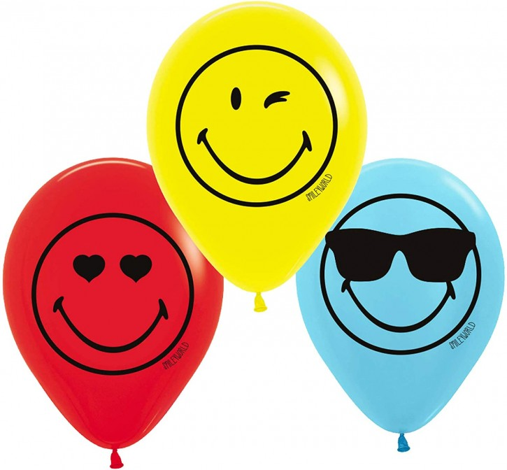6 Luftballons Smiley World 2