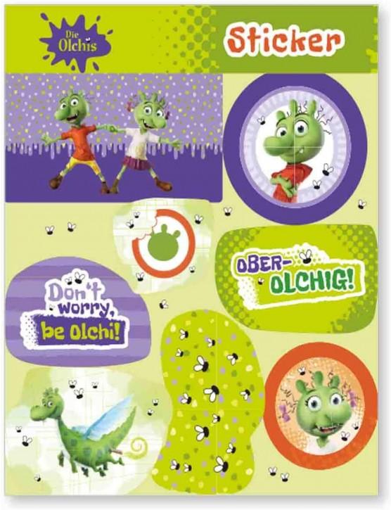 1 Sticker-Bogen Die Olchis