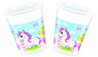 8 Becher Unicorn