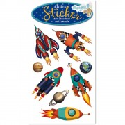 Rakete Glitter Sticker