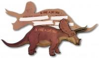 6 Einladungskarten Triceratops