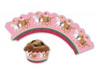 12 Cupcake Deko-Banderolen Bibi und Tina