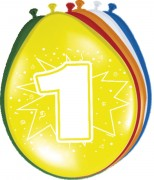 8 Luftballons Zahl 1