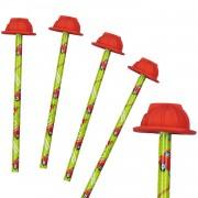 4 Bleistifte mit Radiergummi - Feuewehr